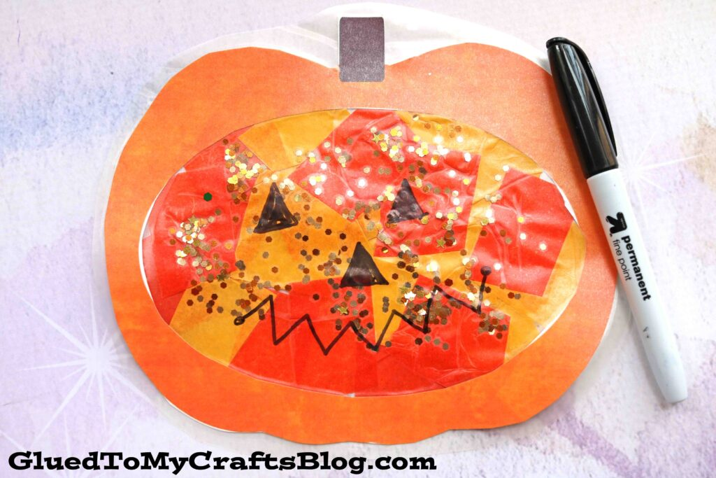 Stained Glass Pumpkins - Kid Craft Idea For Fall