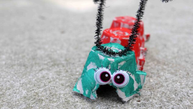 Recycled Egg Carton Caterpillar - Kid Craft Idea For Spring