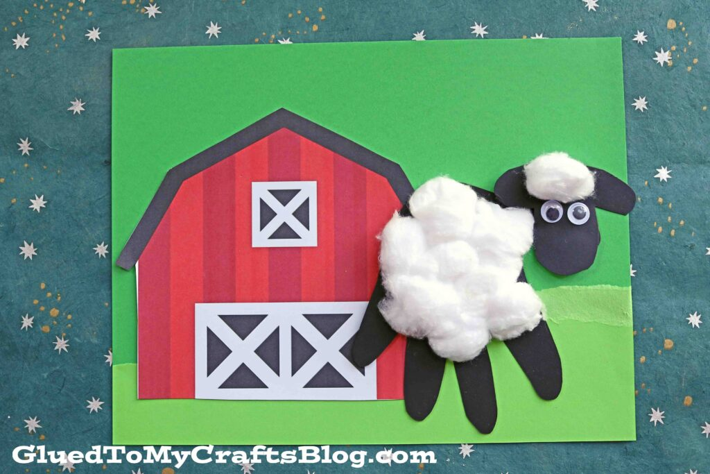 Handprint Paper Baby Sheep Keepsake Idea For Kids To Make