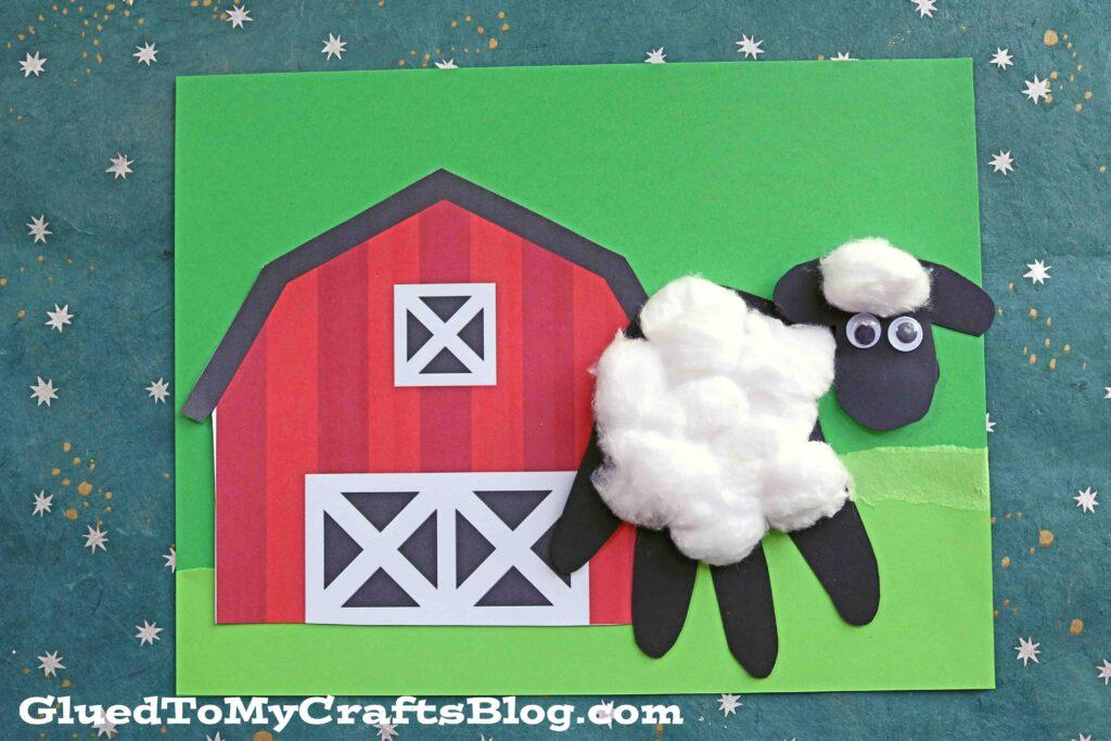 Handprint Paper Baby Sheep Keepsake Idea For Kids To Make
