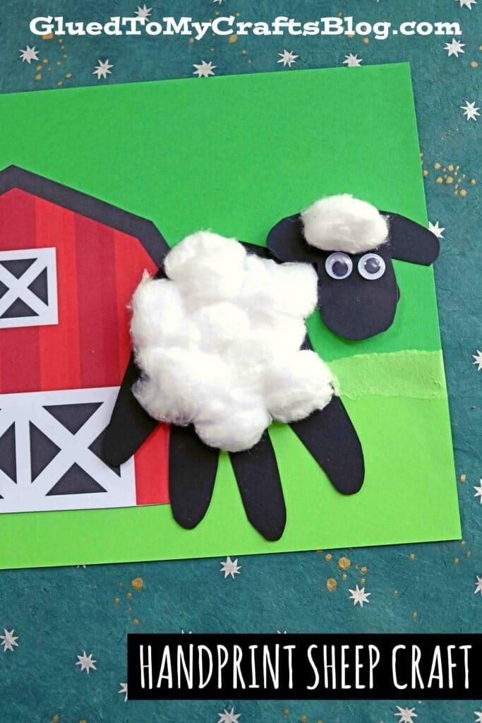 Paper Handprint Baby Sheep - Keepsake Kid Craft