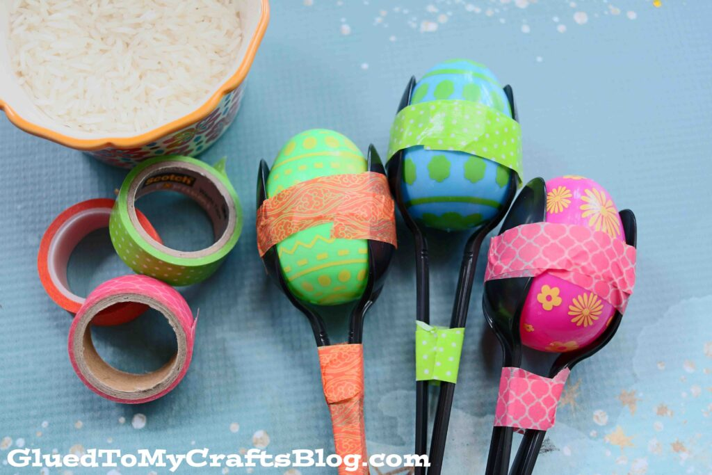 5 Minute Fiesta Rice Noisemakers For Kids To Make