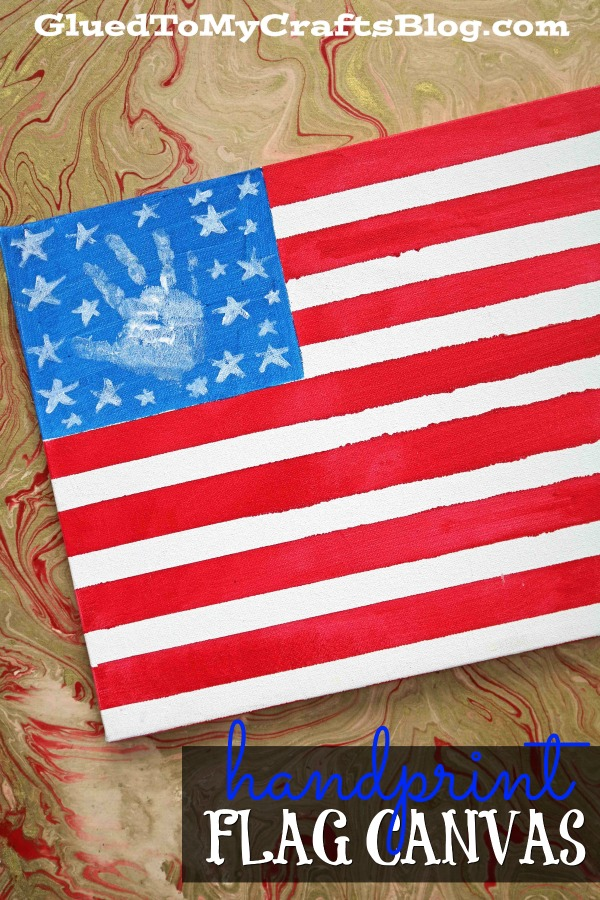 Made By A Toddler - Flag Canvas