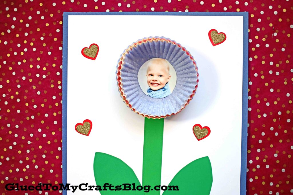 Paper Muffin Cup Flower - Toddler Craft Idea