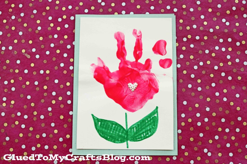 Painted Handprint Flower Cards - Kid Craft Idea For Mother's Day