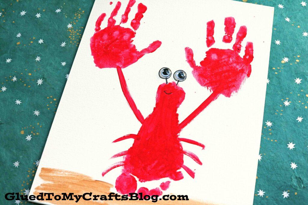Footprint & Handprint Lobster Keepsake Idea For Kids