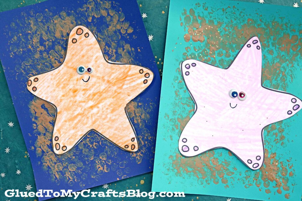Bubble Wrap & Paper Starfish - Summer Kid Craft