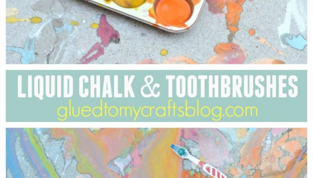 Liquid Chalk & Toothbrushes {Kid Craft}