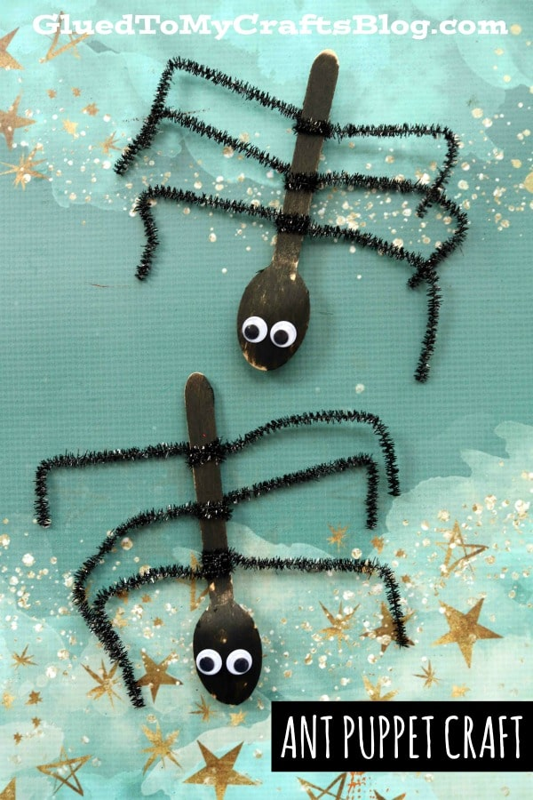 Wooden Spoon Ant Puppet - Kid Craft Idea