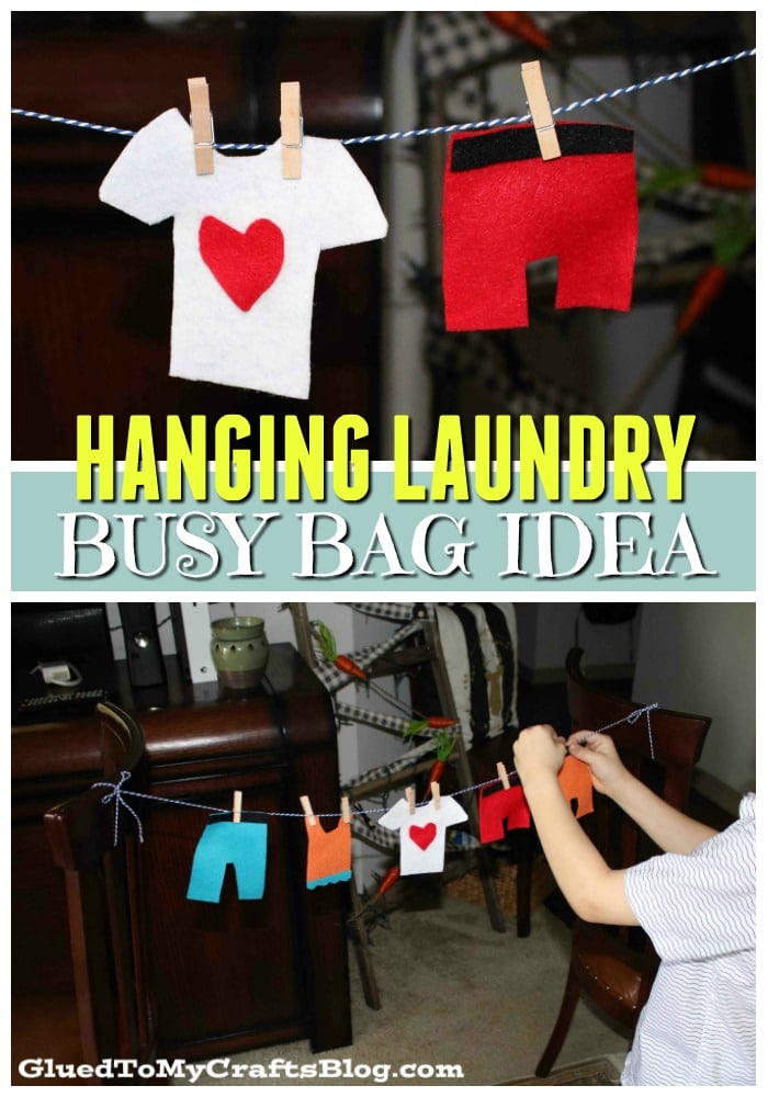 Busy Bag Felt Hanging Clothes Activity For Toddlers
