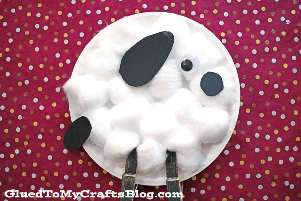Paper Plate & Cotton Ball Sheep {Kid Craft}