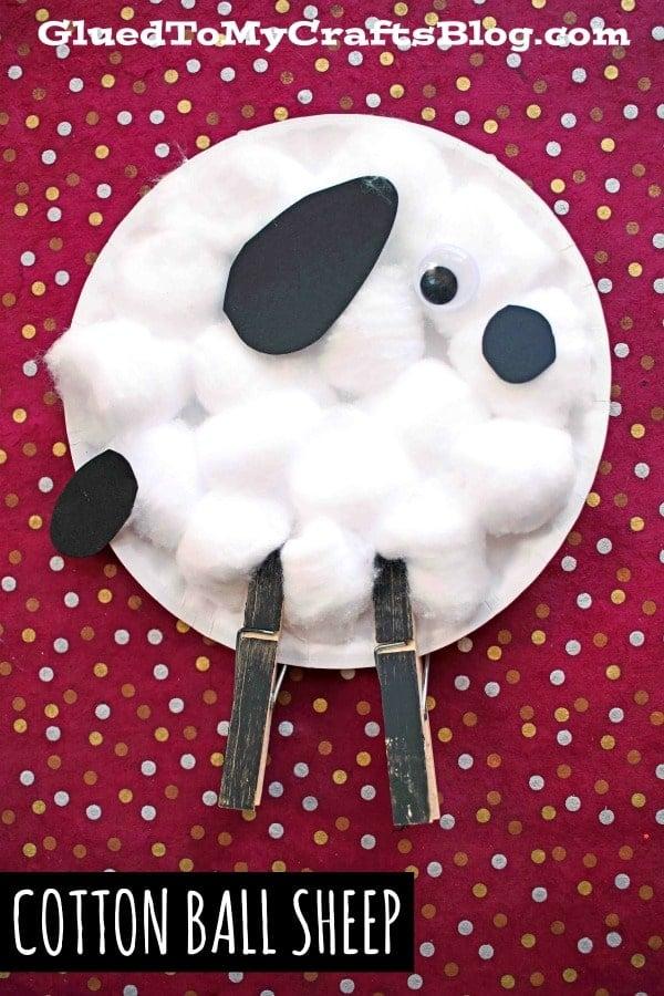 Paper Plate & Cotton Ball Sheep {Kid Craft}