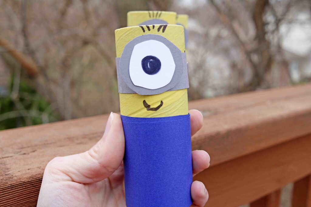 Super EASY Cardboard Tube Minion Craft Idea For Kids