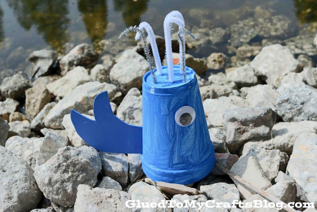 Styrofoam Cup Whale - Summer Kid Craft Idea