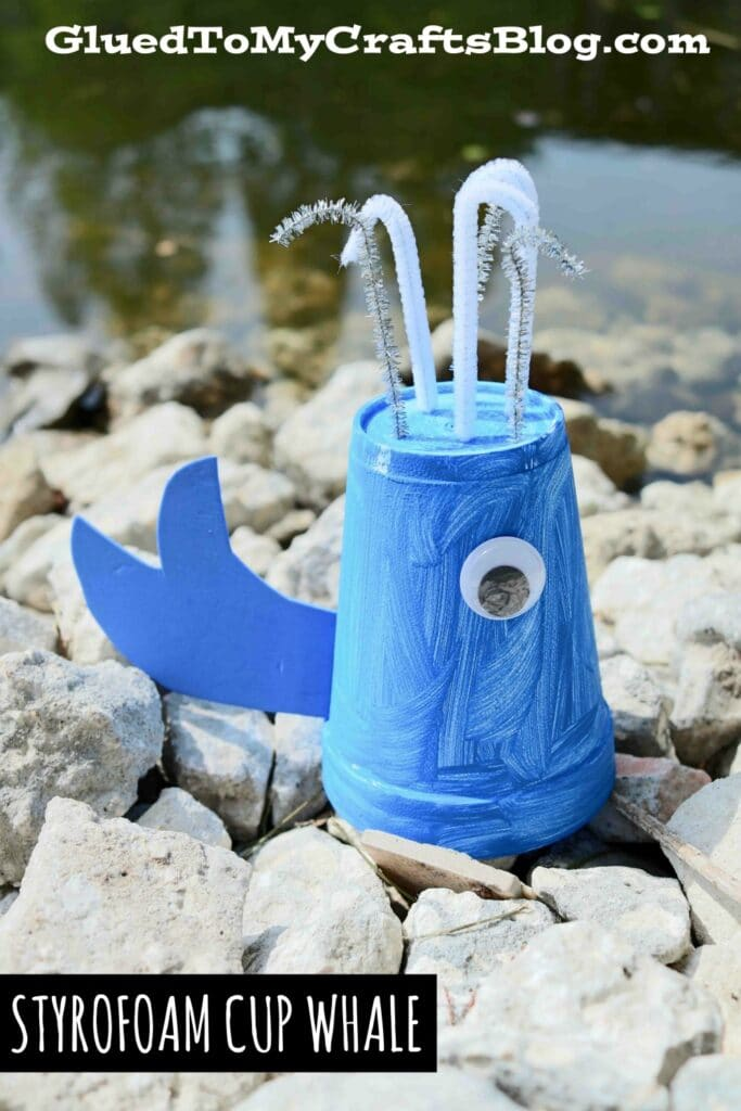 Styrofoam Cup Whale - Kid Craft Idea