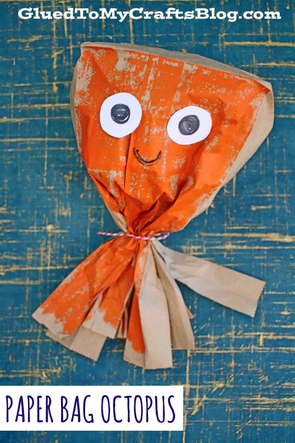 Paper Bag Octopus - Kid Craft Idea