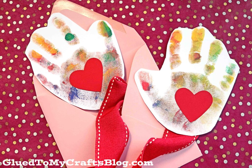 Handprint Mail A Hug {Deployment Craft Idea For Kids}