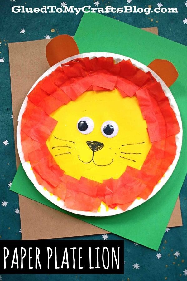 Tissue Paper & Paper Plate Lion - Toddler Friendly Craft Idea