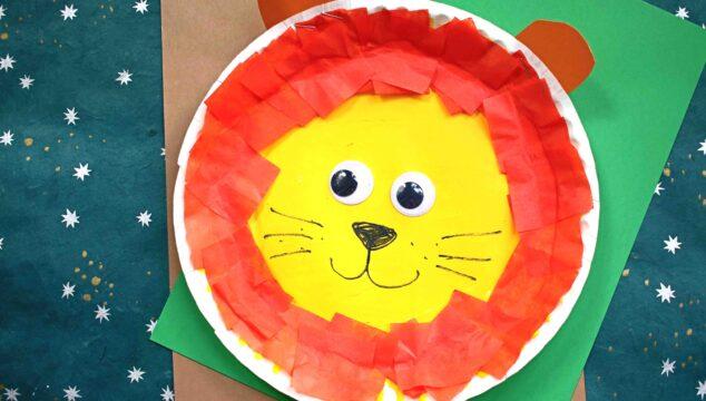 Paper Plate Lion - Toddler Friendly Craft Idea