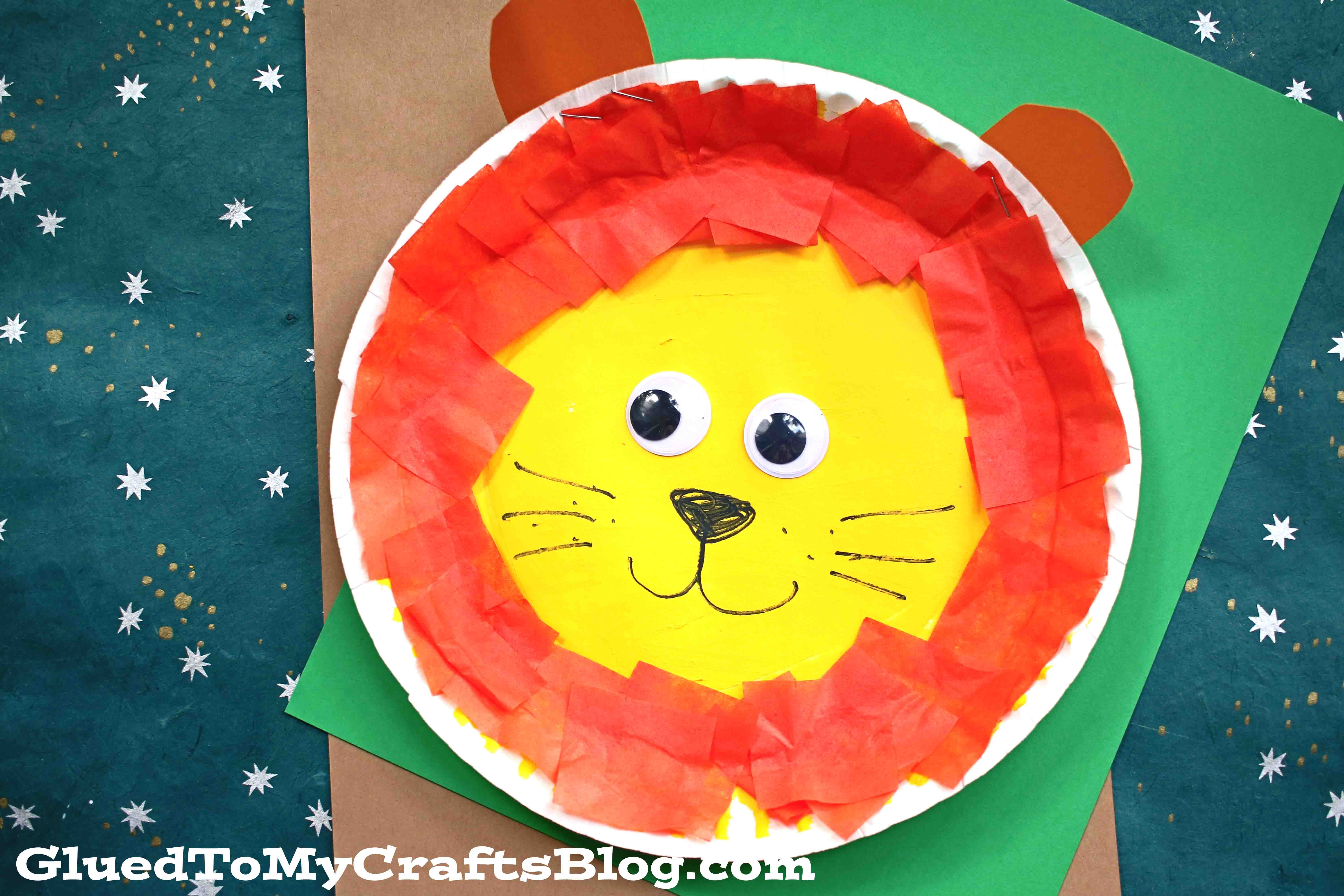 Paper Plate Lion - Toddler Friendly Craft Idea