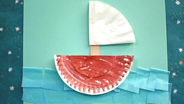 Paper Plate & Coffee Filter Boat - Kid Craft