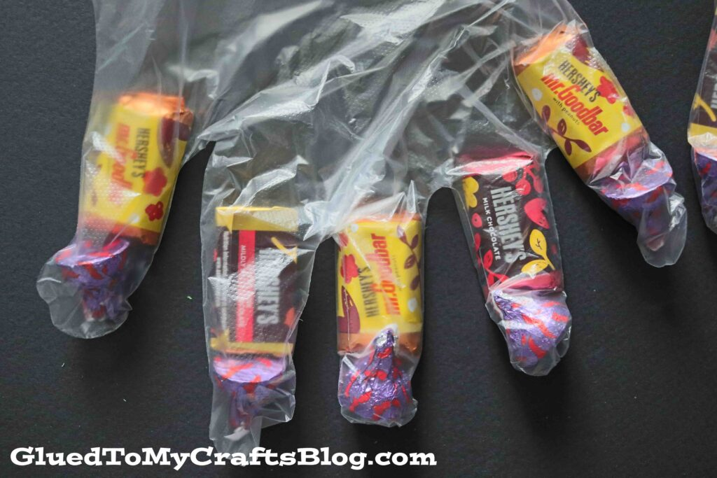 DIY Halloween Monster Hand Treat Bags