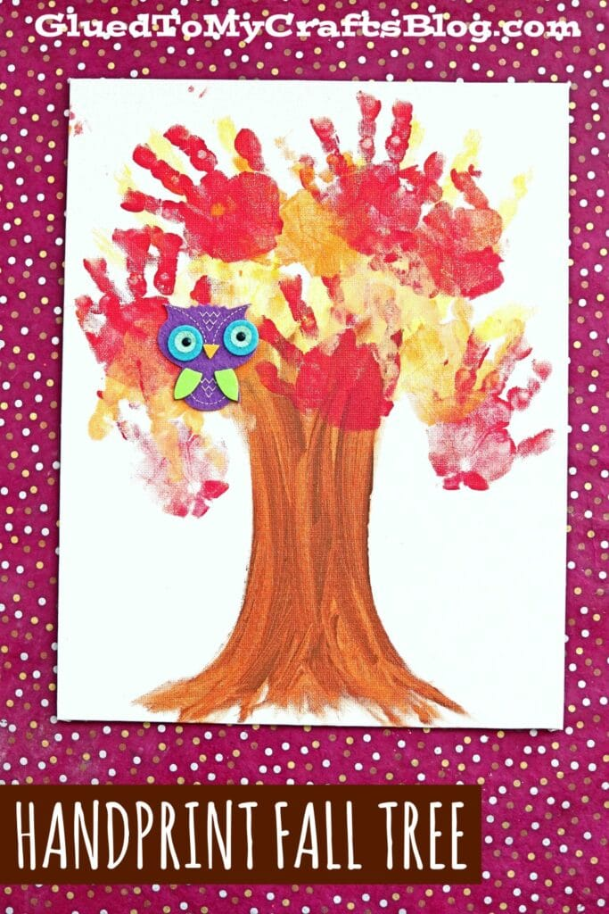 Painted Handprint Fall Tree Keepsake Canvas {Kid Craft}