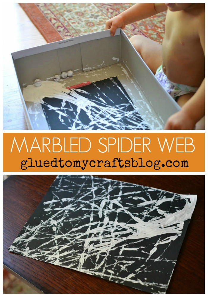 Marbled Art Spider Web {Kid Craft}