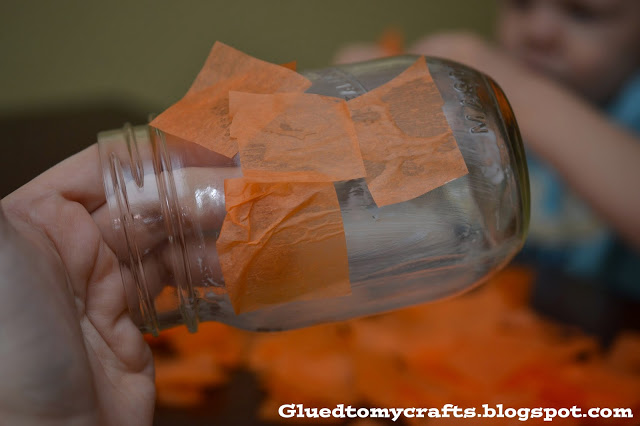 Mason Jar ~ Jack-O-Lantern {Craft}