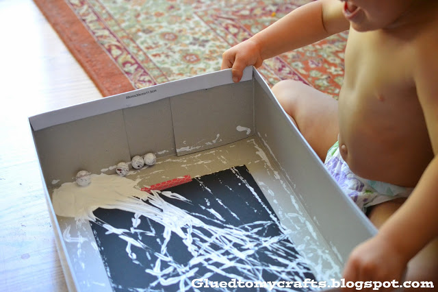 Marble Art Spider Web {Kid Craft}
