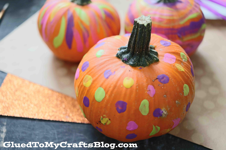 Toddler Fun Pumpkin Painting Fall Craft