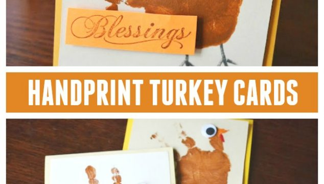 Handprint Turkey Cards - Kid Craft