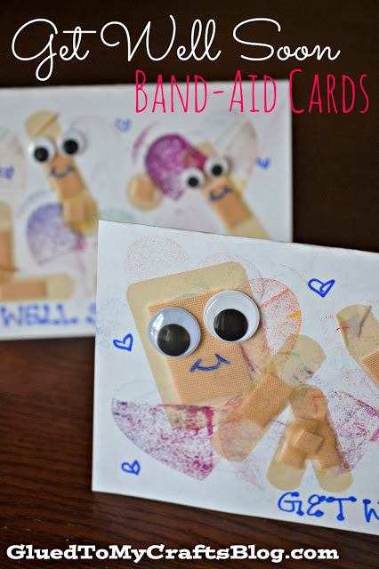 Get Well Soon - Handmade Band-aid Cards {Kid Craft}