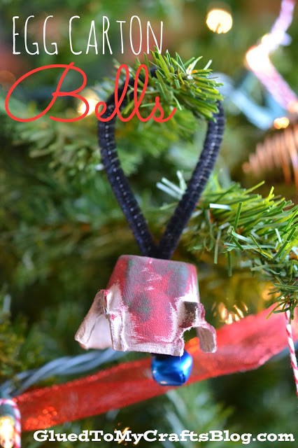 Recycled Egg Carton Christmas Bells {Kid Craft}