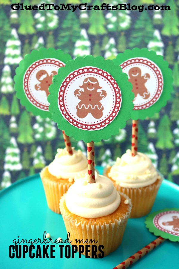 FREE Gingerbread Men Cupcake Topper Printable For Christmas Treats