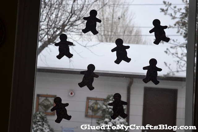 """Iced"" Gingerbread Men Craft {Kid Craft}"