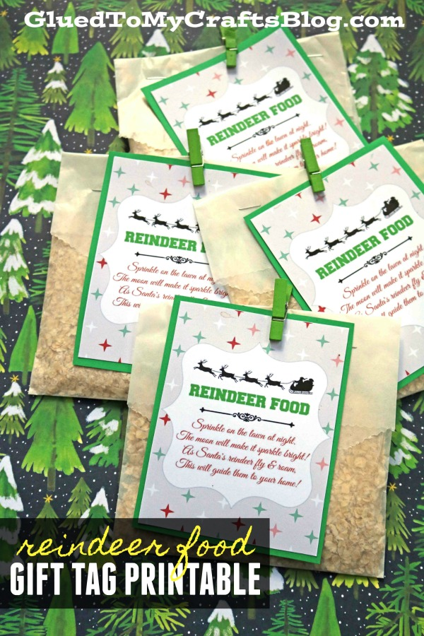 Reindeer Food Craft w/Free Gift Tag Printable