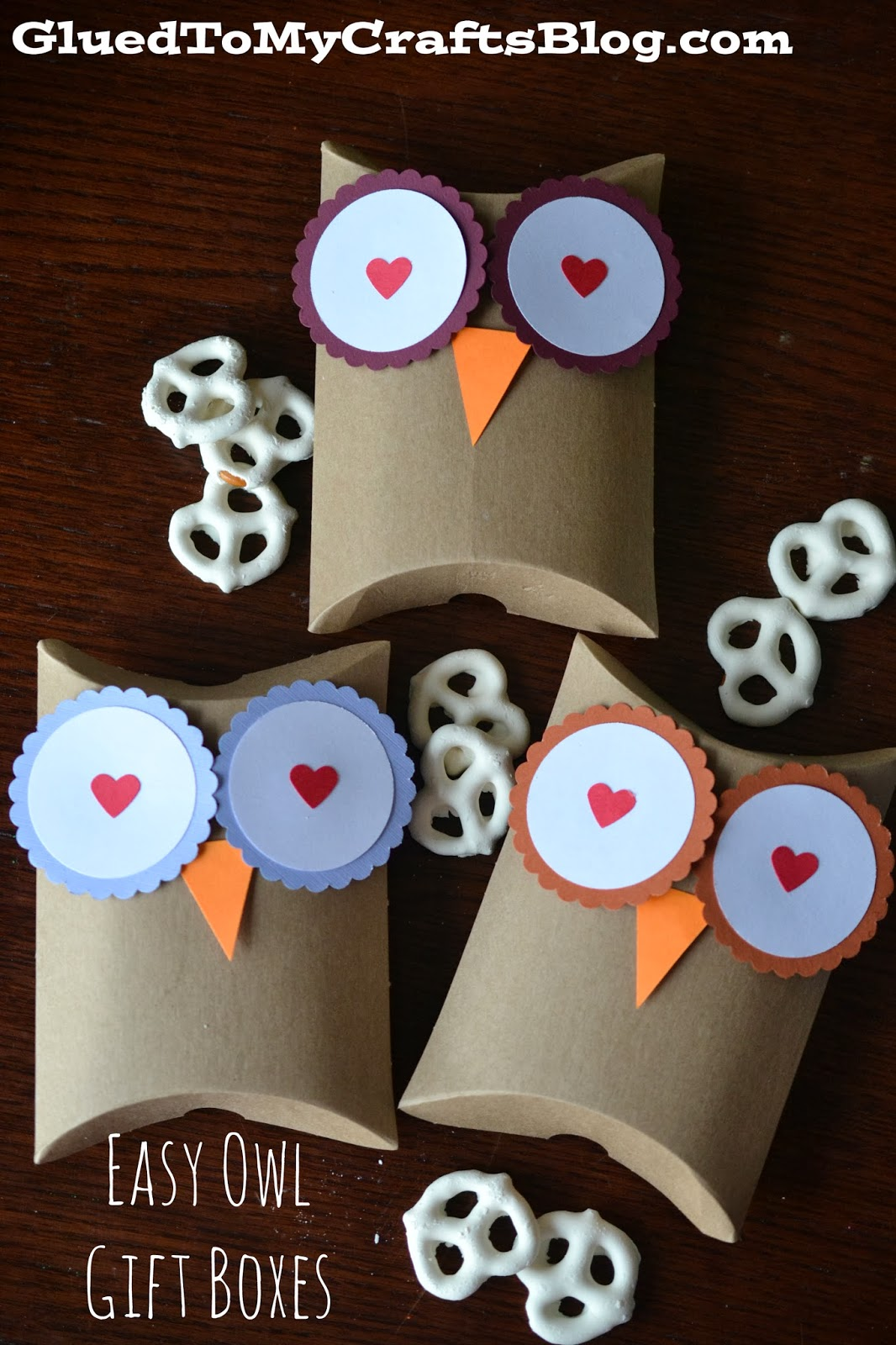 Easy Paper Owl Gift Boxes - Craft Idea For Valentine's Day