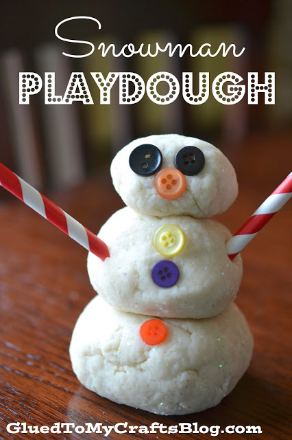 Homemade Snowman Playdough - Kid Friendly Craft Recipe