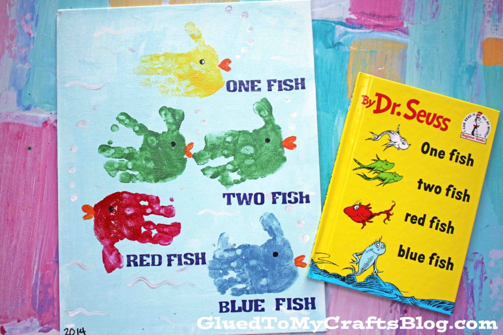 Dr Seuss Inspired Fish Canvas Painting {Kid Craft}