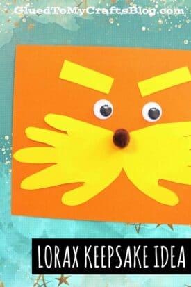 Dr Seuss Inspired - Handprint Lorax Keepsake Idea