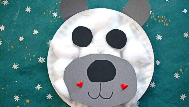 Paper Plate Polar Bear {Kid Craft}
