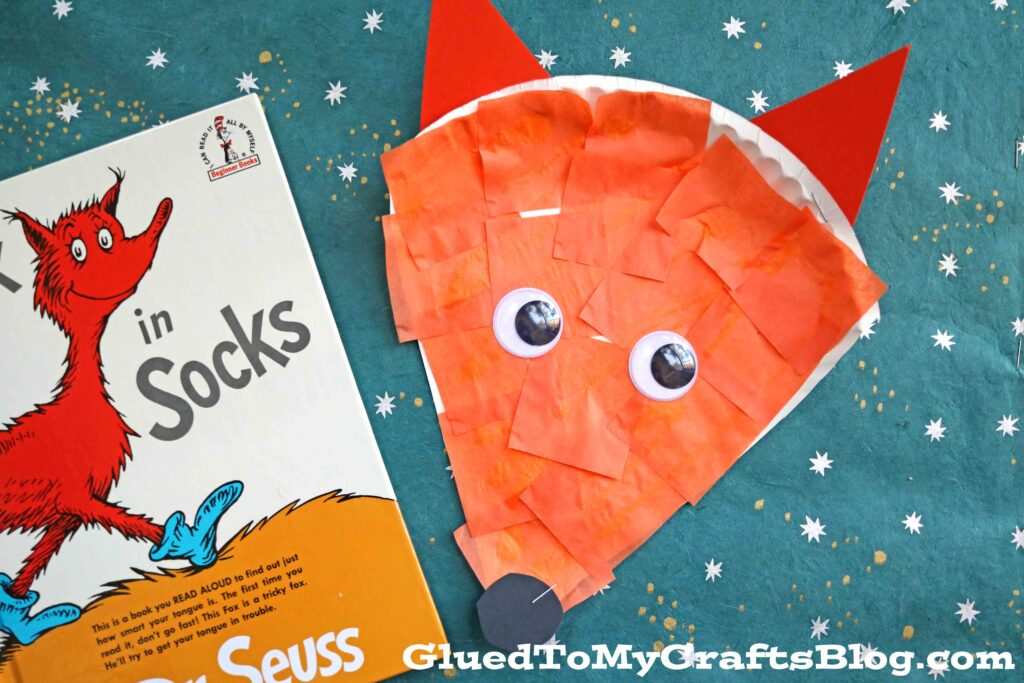 Dr Seuss Inspired - Paper Plate Fox {Kid Craft}