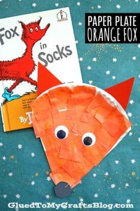 Dr Seuss Inspired - Paper Plate Fox {Kid Craft}