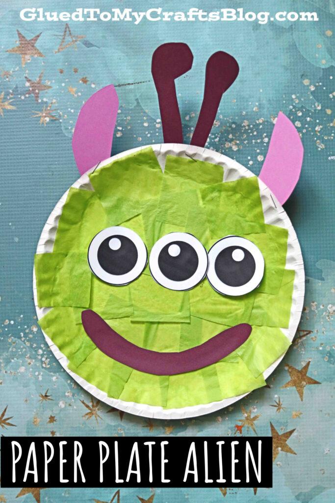 Easy Paper Plate Alien - Kid Craft Tutorial