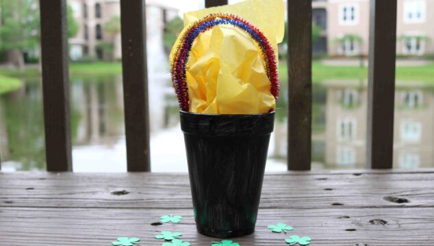 Magical Styrofoam Cup Bucket Of Luck - Kid Craft
