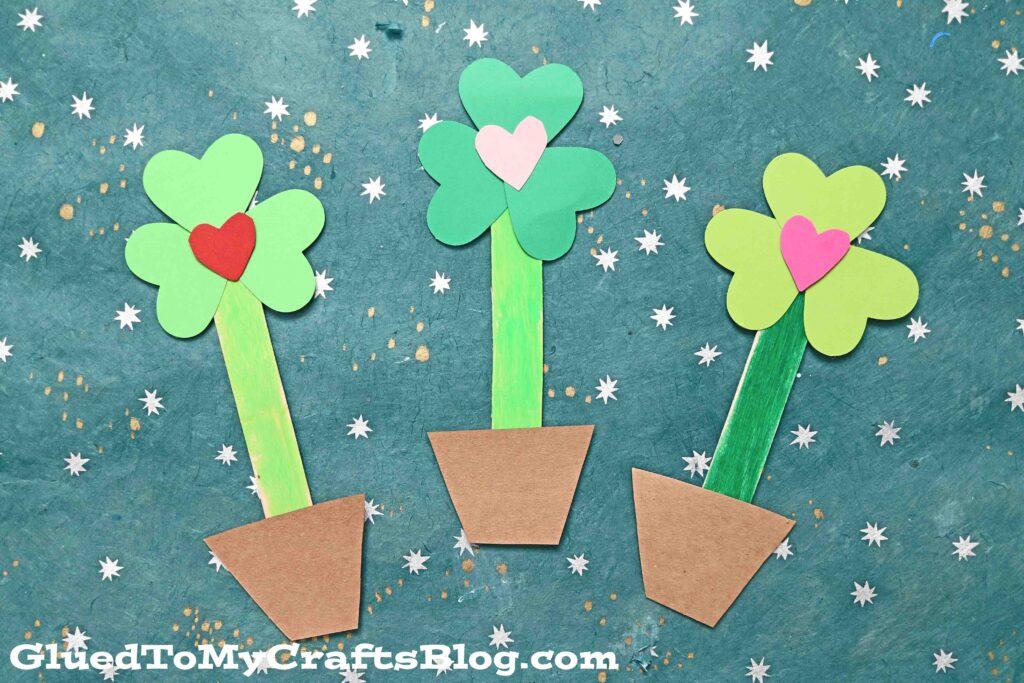 Paper Shamrock Love Plant - St. Patrick's Day Kid Craft