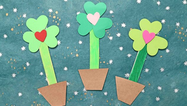 Paper Shamrock Love Plant - St. Patrick's Day Kid Craft
