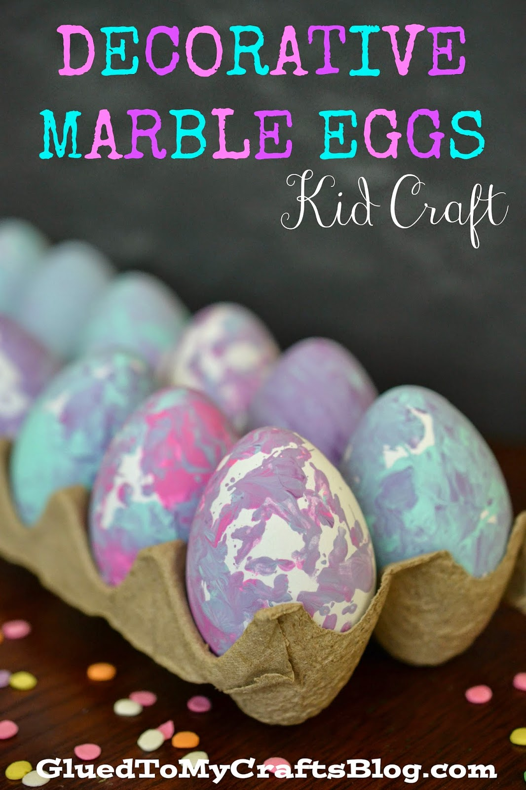 Decorative Marble Eggs {Kid Craft}