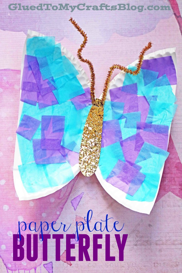 Paper Plate Butterfly {Kid Craft}